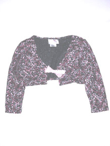 Pink Sweater Lace Shrug
