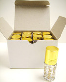 3 ml Printed Roll on Bottle with Gold Caps [12 PCS]