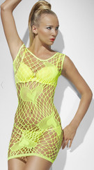 Diamond Net Clubwear Dress With Hearts