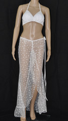 Sexy White Bling Bling Long Dress And Bra Set