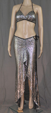 Hello Boys Silver Bling Bra and Long Dress