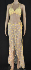 Yellow Butterfly Bra and Long Dress