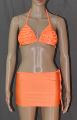 Orange Stunner Bikini and Hot Skirt