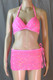Hot Pink Sparkle Fun Bikini and Hot Skirt