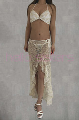 Long Dress And Bra Set White And Gold Dream Catcher