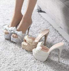 Luxury Bow Platform Heels