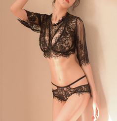 Sexy Evenings Black Lace Lingerie