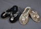 Lucky Bling Slippers Black and Gold