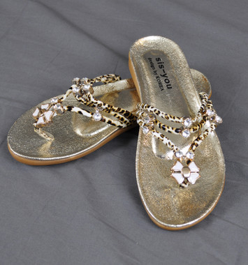 Lucky Bling Slippers Gold