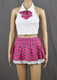 Lace Frills Pink Tartan School Girl Outfit