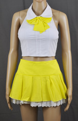 Lace Frills Bright Yellow School Girl Outfit