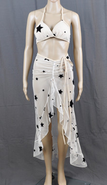 Stars At Night Long Dress And Bra Set