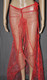 Red Fairy Dust Long Dress And Bra Set