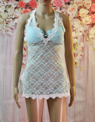 Lace and Rose Babydoll (Light Green)