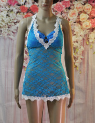 Lace and Rose Babydoll (Dark Blue)