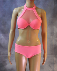 Long Neck Mesh Bikini