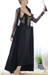 Vivian Long Dress (Black)