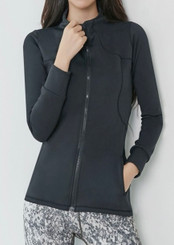 Slim Active Zip Top (Black)