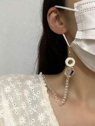 Clear Chain Mask Necklace (Made In Korea)