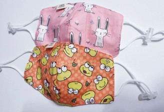 Bunny and Frog Kids Mask (Made In Korea)