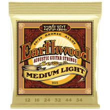 Ernie Ball EARTHWOOD MEDIUM LIGHT ACOUSTIC GUITAR STRINGS 12-54