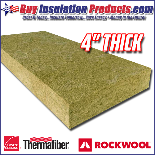 "4"" Thick Mineralwool Insulation Panels"