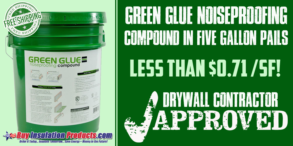 Green Glue Between Two Layers of Drywall vs  Factory Damped Gypsum