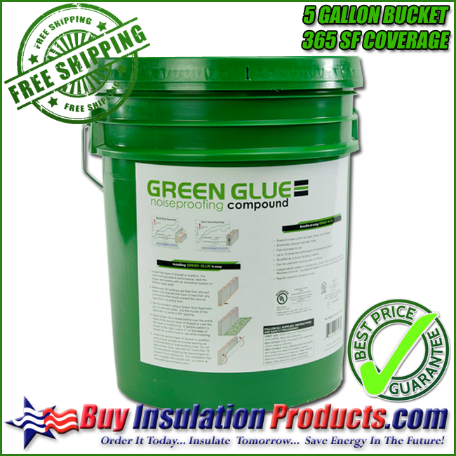 Green Glue Noiseproofing Compound 5 Gallon Bucket