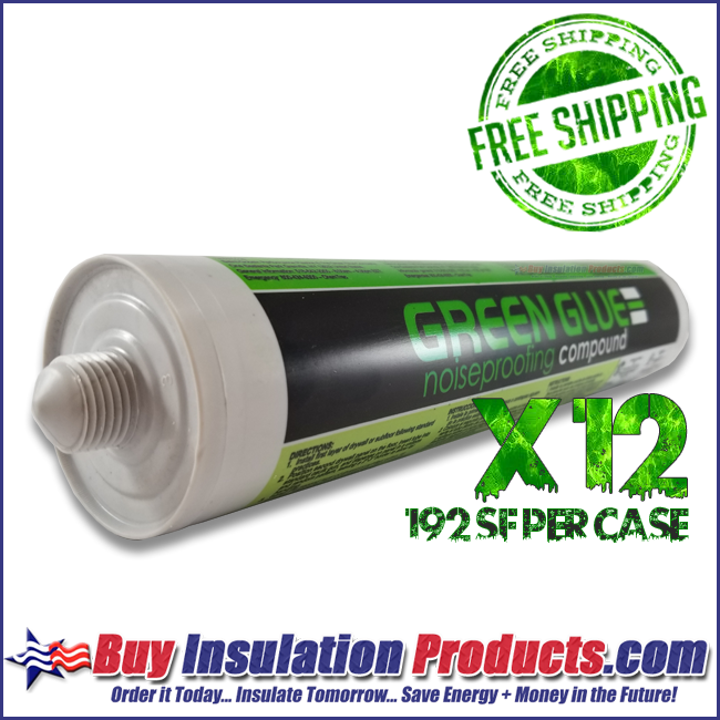 Green Glue Noiseproofing Compound in 29 ounce Tubes 192sf per Case