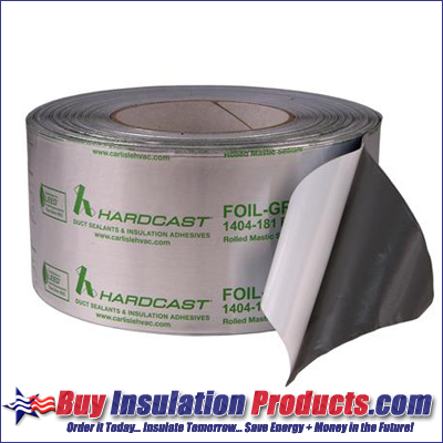 Carlisle Hard Cast Foil Grip 181 BFX UL Listed Rolled Mastic Tape