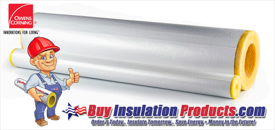 Owens Corning Fiberglass Pipe Insulation ASJ Max Paper Jacketing Proximity to Boiler Casing Flue Pipes