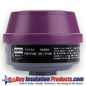 Organic Vapor Cartridge with P100 Filter