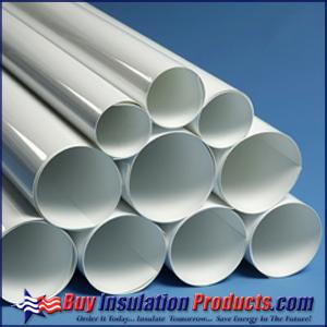 3' PVC Pipe Insulation Jacket | PVC Cut & Curl Jacketing