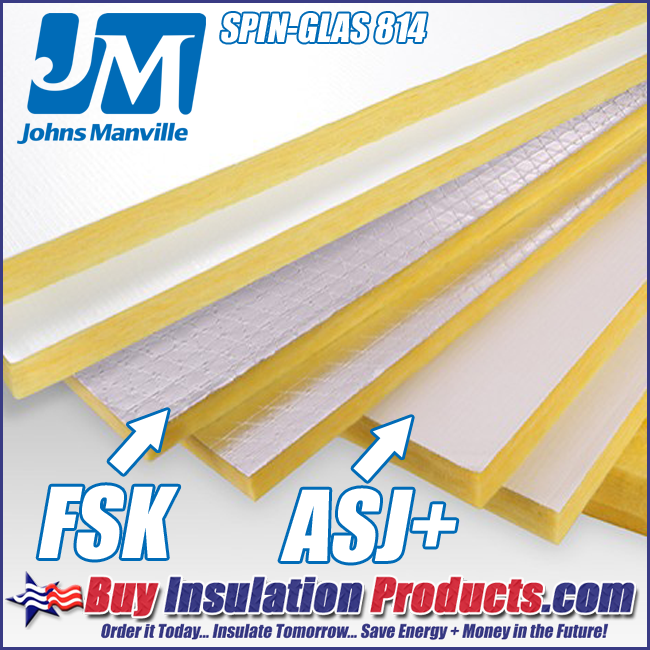 Rigid Fiberglass Insulation Board – ASJ & Foil-Faced