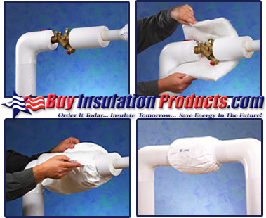 Reusable Valve Wrap Covers install quickly and easily and allow access to the valve insulated underneath.