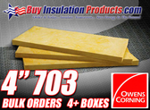 "Owens Corning 4"" Thick Fiberglass Acoustic Board 703"