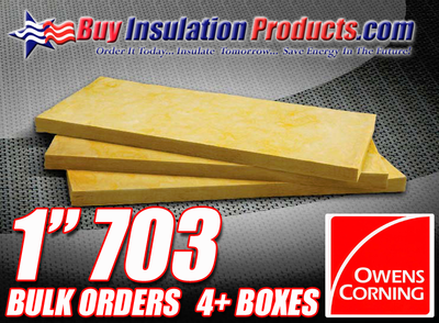 "Owens Corning 703 1"" Thick Fiberglass Acoustic Panels"