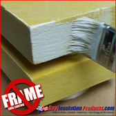 NO-FRAME Edge Coating is brushed onto all four edges and corners of a fiberglass panel to allow a frameless install.