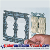 MetaCaulk Electrical Outlet Cover Guards