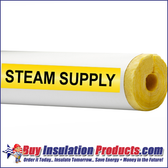 Steam Supply Pipe ID Label (Yellow/Black)