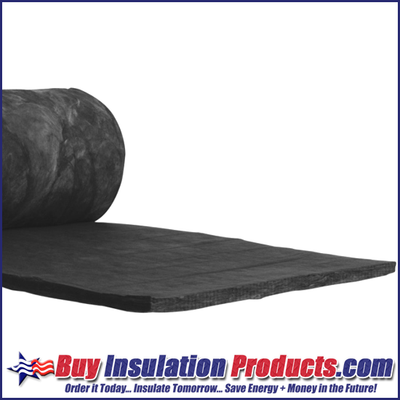 """Owens Corning Black Acoustic Blanket is made from 1"""" thick black fiberglass blanket with a durable black facing which creates a neat, finished appearance"""