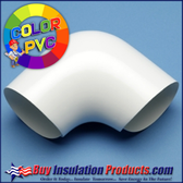Color PVC 90° Degree Elbow Cover