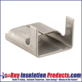 """Aluminum Seal Clips for 1/2"""" wide banding allow you to make fab-straps for your metal jacketing and elbow fitting cover applications."""