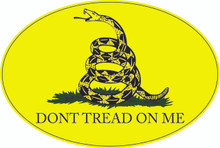 """DONT TREAD ON ME"" - GADSDEN FLAG 4x6 Inch Political Bumper Sticker"