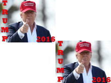 "2 PACK - ""TRUMP 2016"" 4x6 Inch Political Bumper Stickers"