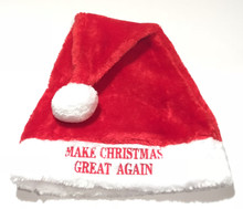 DONALD TRUMP - MAKE CHRISTMAS GREAT AGAIN - Unisex / One Size Santa Hat, Beanie, Cap