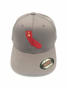 COMMIEFORNIA - COMMUNIST CALIFORNIA - HIGH QUALITY FLEXFIT BRAND HAT BALL CAP