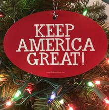 PRESIDENT DONALD TRUMP - KEEP AMERICA GREAT! 4x6 Inch Christmas Tree Ornament
