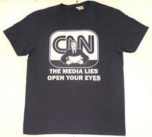 The Media Lies, Open Your Eyes - Fake News - CNN Sucks - President Donald Trump - Men's T-Shirt