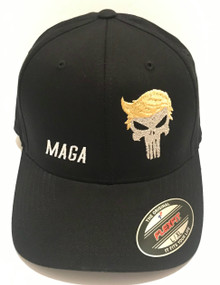 TRUMP PUNISHER FLEXFIT - PRESIDENT DONALD TRUMP 2020 ELECTION - Ball Cap / Hat